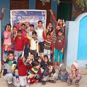 Ajahari village aligarh children participated a dayactivity a