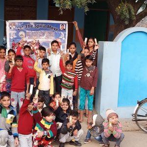 Ajahari village aligarh children participated a dayactivity