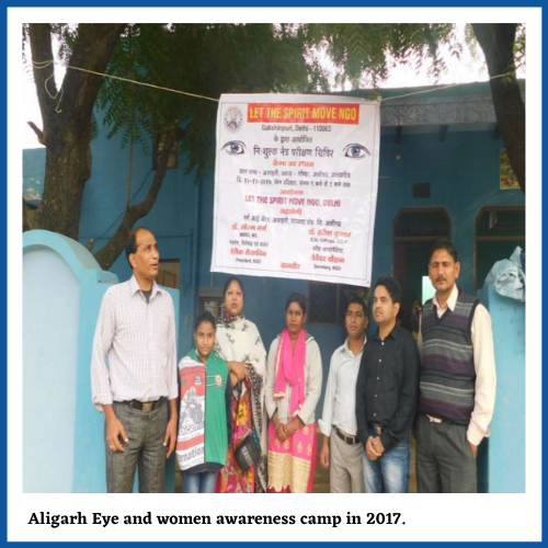 Aligarh eye and Women awareness by Let the spirit Move