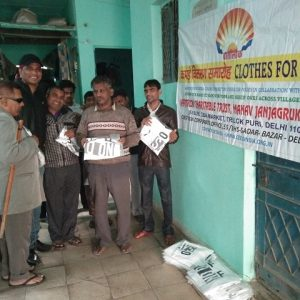Distribute T shirt to Blind People
