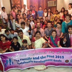 Family day celebrated with Internation famity Uninversal Peace federation NGO