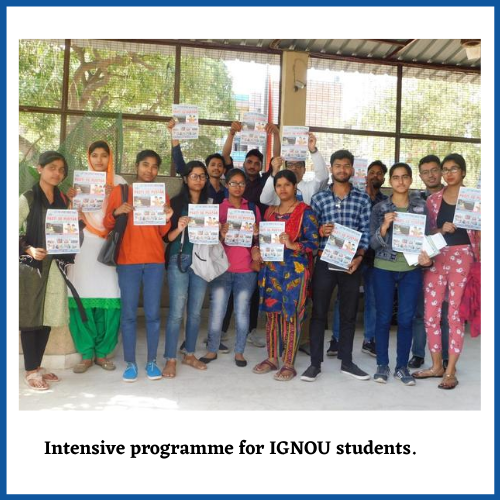 Intensive programme for IGNOU students by Let the spirit Move